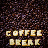 Alphabet  coffee break made from bread cookies Stock Images
