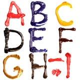 Alphabet coloré Photo libre de droits