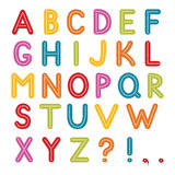 Alphabet coloré illustration de vecteur