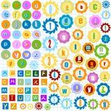 Alphabet coloré Images libres de droits