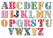 Alphabet-coloré Image stock