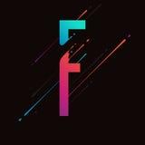 Alphabet coloré abstrait moderne L'encre liquide dynamique éclabousse la lettre Élément de conception de vecteur pour votre art L Images libres de droits