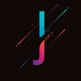 Alphabet coloré abstrait moderne L'encre liquide dynamique éclabousse la lettre Élément de conception de vecteur pour votre art L Images stock