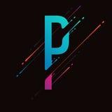 Alphabet coloré abstrait moderne L'encre liquide dynamique éclabousse la lettre Élément de conception de vecteur pour votre art M Photos libres de droits