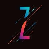 Alphabet coloré abstrait moderne L'encre liquide dynamique éclabousse la lettre Élément de conception de vecteur pour votre art M Photos stock