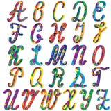 Alphabet coloré anglais pour des enfants Photos stock