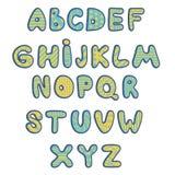 Alphabet coloré d'enfants drôles Images libres de droits