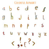 Alphabet coloré d'imagination d'aquarelle de vecteur EPS10 Photo libre de droits