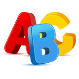 alphabet coloré des symboles 3D Photos libres de droits