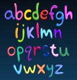 Alphabet coloré minuscule de spaghetti Image libre de droits