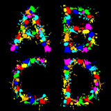 Alphabet color drop ABCD Stock Photo