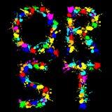Alphabet color drop QRST Stock Images