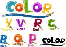 Alphabet color Royalty Free Stock Photos