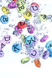 Alphabet colored background Royalty Free Stock Photos