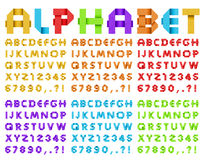 Alphabet from colored paper Stock Image