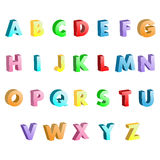 Alphabet colorful letters 3D Royalty Free Stock Image