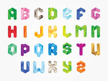 Alphabet colorfull bold illustration. Vector abstract alphabet .Alphabet needled seams.Vector alphabet with seam.Alphabet isolated.Vector Alphabet flat style royalty free illustration