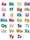 The alphabet coloring Stock Images