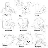 Alphabet coloring page Royalty Free Stock Images
