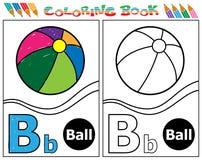 Alphabet colouring-B. Line art vector design Stock Photo