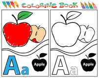 Alphabet colouring-A Royalty Free Stock Images