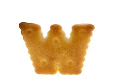 Alphabet cookie biscuits Royalty Free Stock Photo