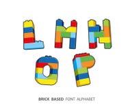 Alphabet créé de jouer des briques Images libres de droits