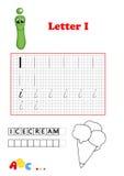 Alphabet, crême glacée Photo libre de droits