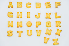 Alphabet cracker on white background. 1 Royalty Free Stock Photography