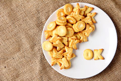 Alphabet cracker word  ok Stock Photos