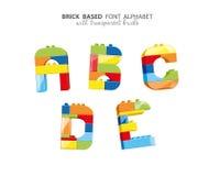 Alphabet created from playing bricks Stock Photos