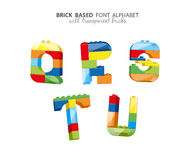 Alphabet created from playing bricks Stock Photography