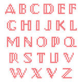 Alphabet croisé de point Images stock