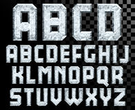 Alphabet of Crystal letters Stock Image