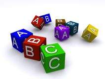 Alphabet Cubes Stock Photo