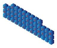 Alphabet cubes Stock Photos
