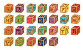 Alphabet cubes Stock Photography