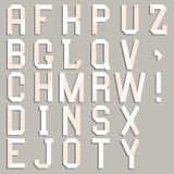 Alphabet cut out of paper. Royalty Free Stock Photos