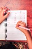 Alphabet d'écriture d'enfant Photo stock