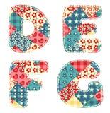 Alphabet d'édredon. Photographie stock libre de droits