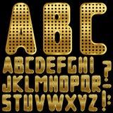 Alphabet d'or Photographie stock libre de droits