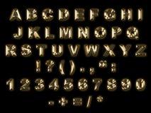 Alphabet d'or illustration libre de droits