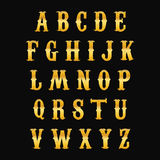 Alphabet d'or Images libres de droits