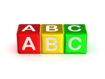Alphabet d'ABC Photo libre de droits