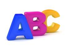 Alphabet d'ABC Photos libres de droits