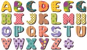 Alphabet d'album à patchwork illustration libre de droits