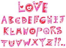 Alphabet d'amour Photo libre de droits