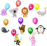 Alphabet d'animaux Photo stock