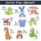 Alphabet d'animaux de bande dessinée Image libre de droits