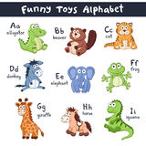 Alphabet d'animaux de bande dessinée Photos stock